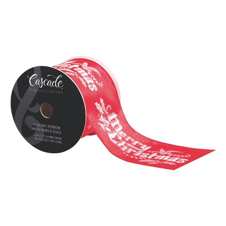 Fun Express - Cascade Satin Ribbon Merry Christmas - Craft Supplies - Bulk Craft Accessories - Floral - 15 Pieces Cascade Satin Ribbon Merry Christmas - Craft Supplies - Bulk Craft Accessories - Floral - 15 Pieces