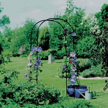 "Image of ""Gardman 6'3"""" Steel Rose Arbor - Black"""