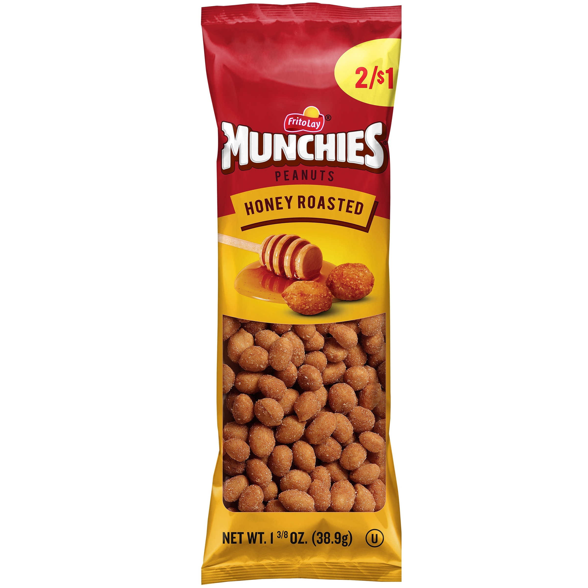 Munchies Honey Roasted Peanuts 1.38 oz. Bag