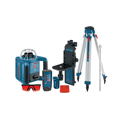 Bosch GRL300HVCK Self-Leveling Rotary Laser with Layout Beam Complete Kit by Bosch Power Tools