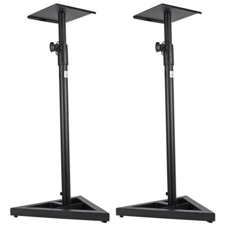 ProX Cases X-MS12 Pair of Heavy Duty Studio Monitor Stands w/ Adjustable (Studio Monitor Stand)