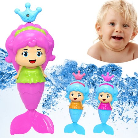 DZT1968 Bath Tub Fun Swimming Baby Bath Toy Mermaid Wind Up Floating Water Toy for - Fun Bat