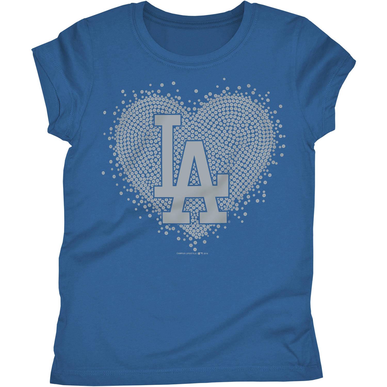Los Angeles Dodgers Girls Short Sleeve Graphic Tee