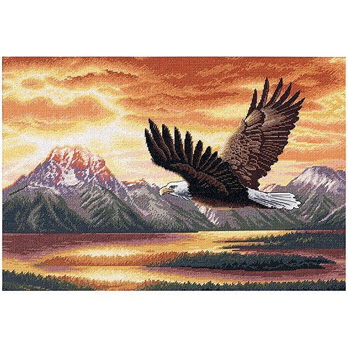 """Dimensions Gold Collection """"Silent Flight"""" Counted Cross Stitch Kit, 16"""" x 11"""""""