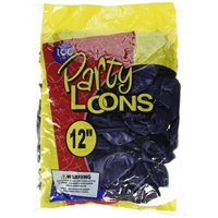 "cti industries 100 count metallic latex balloons, 12"", deep purple"