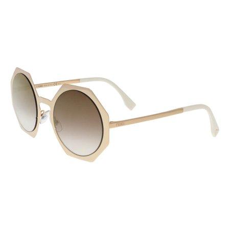cfef4ff9f0877 ... UPC 827886544332 product image for Fendi FF0152S 0DDB Gold Copper  Geometric Sunglasses