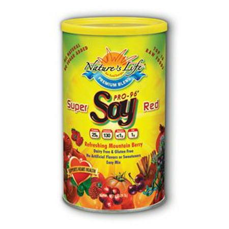 Super rouge de protéines de soja 1 Nature's Life lbs de poudre