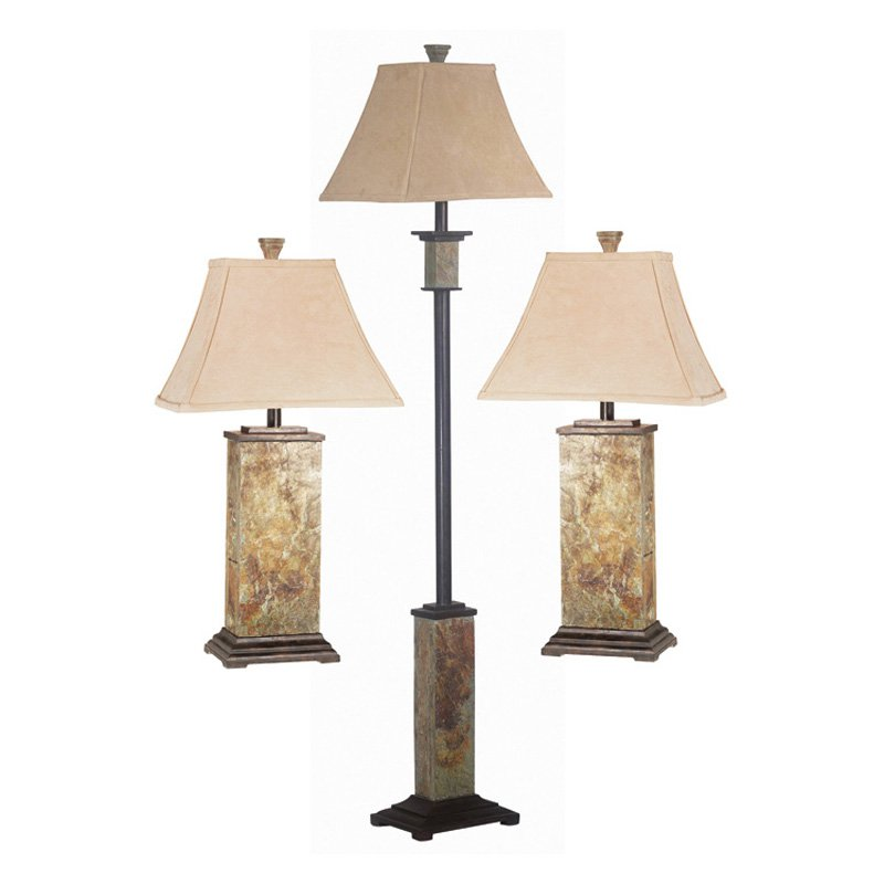 Kenroy Home Bennington Lamp Set, Slate by Kenroy Home