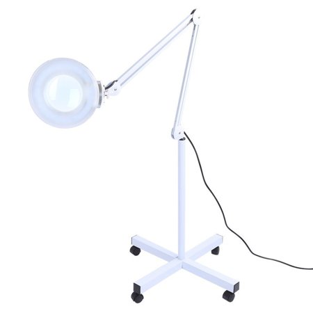 best loved a9747 a526a 5x LED Magnifying Floor Lamp Light with Rolling Floor Stand Tattoo Beauty