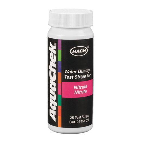 25) AQUACHEK 641426E Nitrate/Nitrite Test Strips Swimming Pool/Spa 1 Bottle