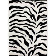 nuLOOM DZEB02 Zebra Print Area Rug - Black And White - 3 x 5 ft.