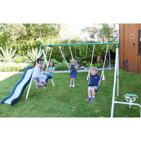 sportspower metal swing set