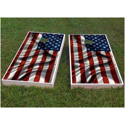 Custom Cornhole Boards American Flag Cornhole Game (Set of 2) by Custom Cornhole Boards