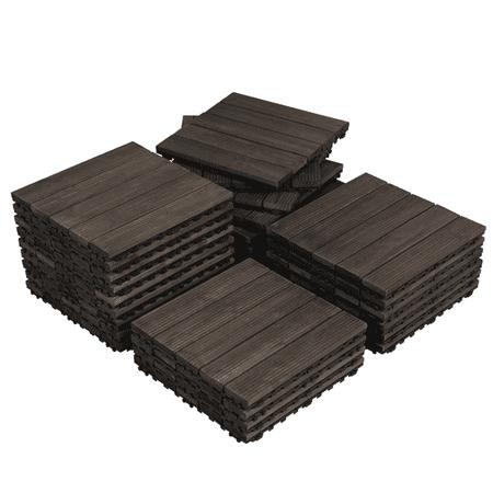 Wood Flooring International Hardwood Flooring (27pcs Wood Flooring Tiles Indoor & Outdoor For Patio Garden,12