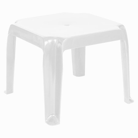 Compamia Sunray Square Resin Patio Side Table in White