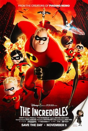 The Incredibles Mini Movie Poster 11inx17in by