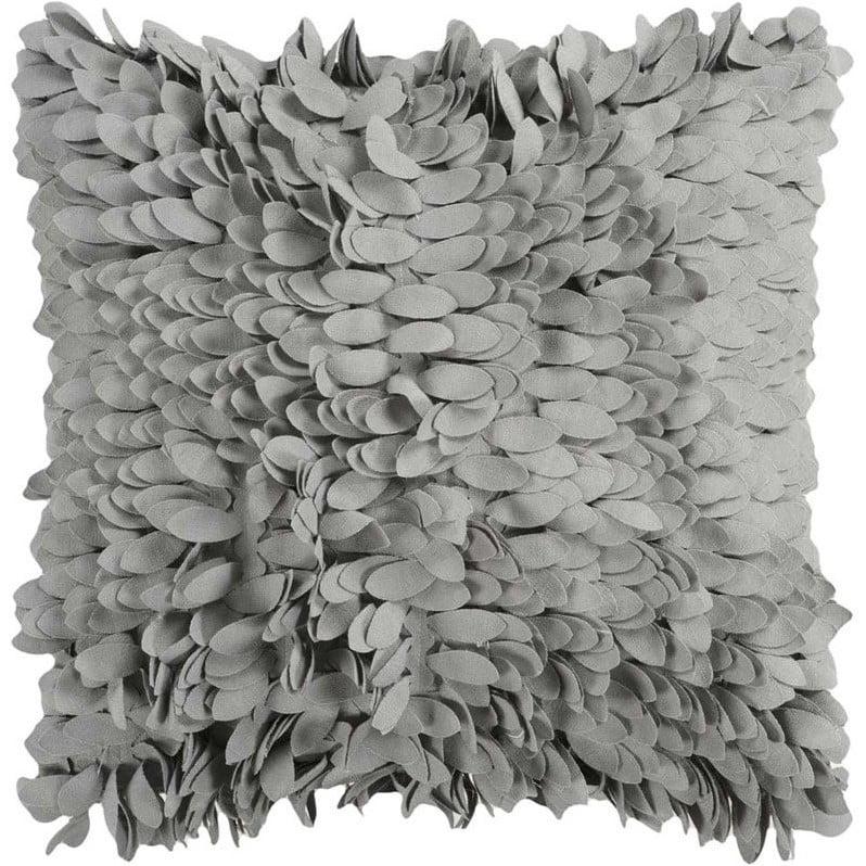 Surya Petals Decorative Pillow - Gray