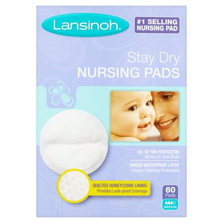 Lansinoh Stay Dry Nursing Pads Medium  60 Count