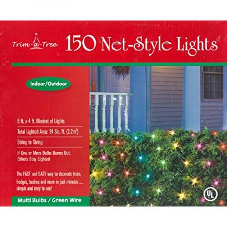 Trim A Tree 150 Indoor Outdoor Net Style Christmas Lights Multicolor
