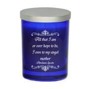 Carved Solutions Gem ''Angel Mother'' Unscented Jar Candle