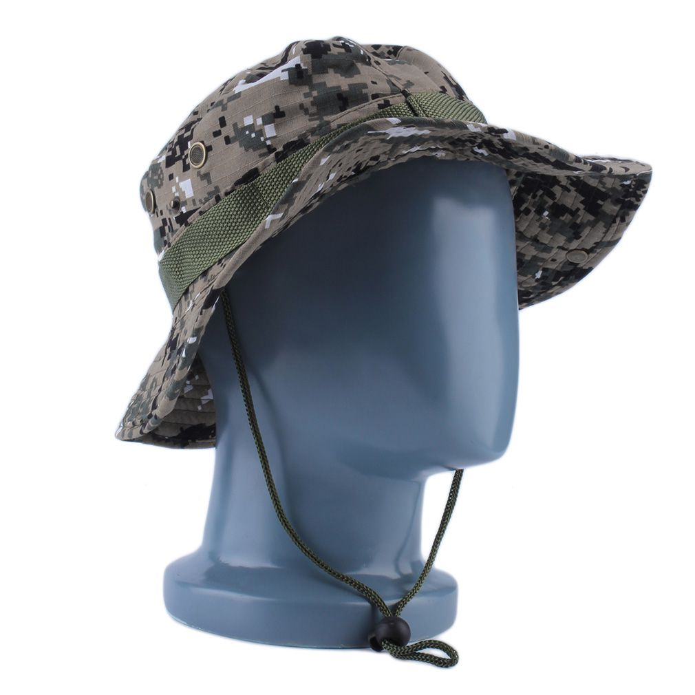 Hot Sale Fashion Unisex Bucket Hat Women Men Gorra Boonie Hat Hunting Fishing Outdoor Wide Military Cap Sun Casual Military Hat