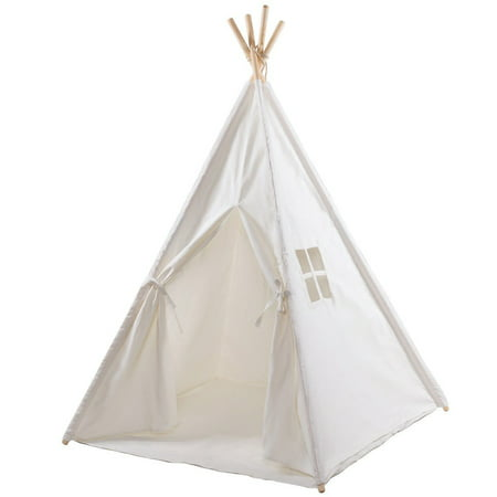 Indian Play Tent 5' Cotton Canvas Children Playhouse with Carry Bag Kids  Teepee