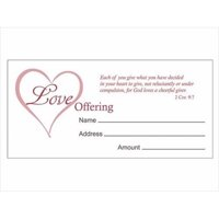 Swanson Christian Supply 133826 Offering Env Love Offering 2Cor 9 7