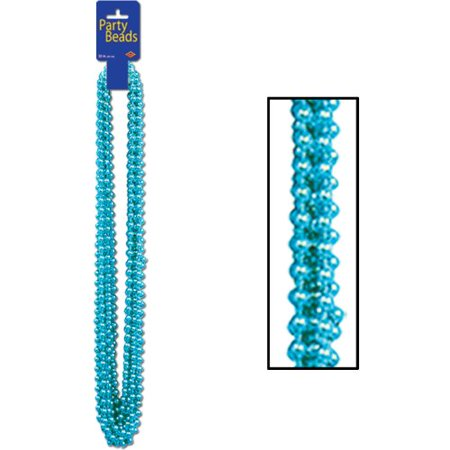 Party Beads - Small Round (turquoise)    (12/Card)