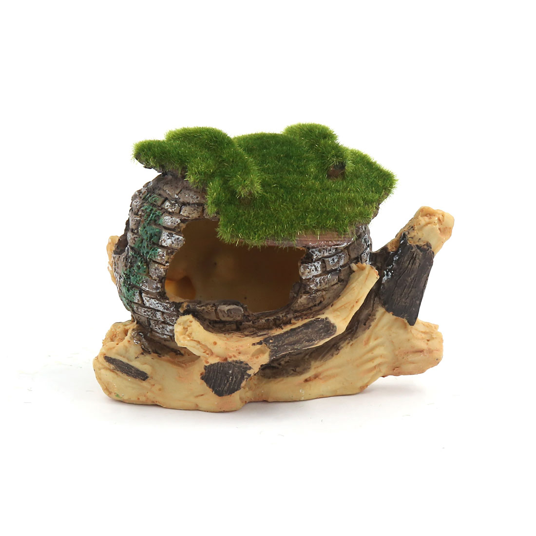 Aqua Landscape Artificial Tree House Decoration 9x6x8cm