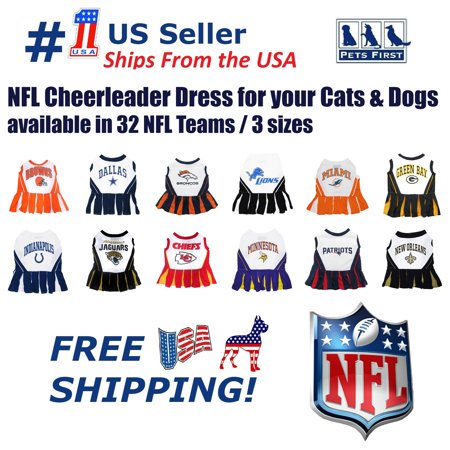 Dallas Cowboy Cheerleading Outfit (Pets First NFL Houston Texans Cheerleader Outfit, 3 Sizes Pet Dress Available. Licensed Dog)
