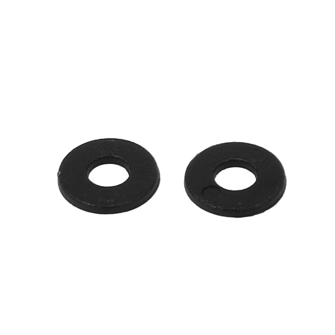 M4x10mmx1mm Plastique Rond Plat Joint Rondelle Entretoise Joint Noir 200Pcs