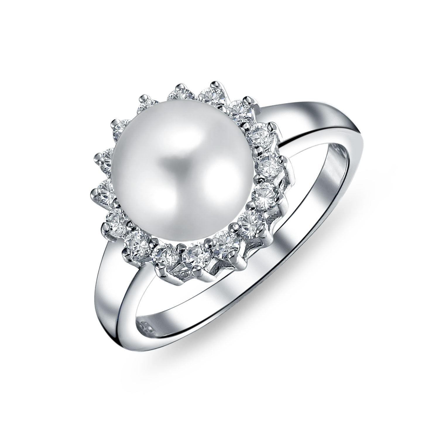 925 Sterling Silver Cultured Freshwater Pearl Open Band Ring