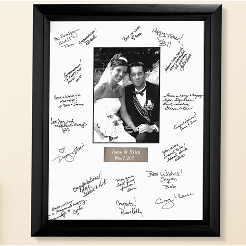 Personalized Wedding Autograph Frame Walmartcom