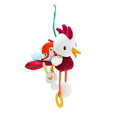 Lilliputiens John Acti-Rooster Car Seat & Crib Dangling Toy