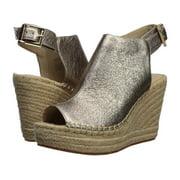 Kenneth Cole New York Womens OLIVIA Leather Peep Toe Casual Platform Sandals