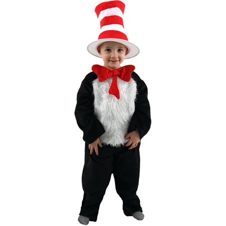 Dr. Seuss Kids Cat In The Hat Deluxe Costume Elope Costumes 400411 (Who Costumes From Dr Seuss)