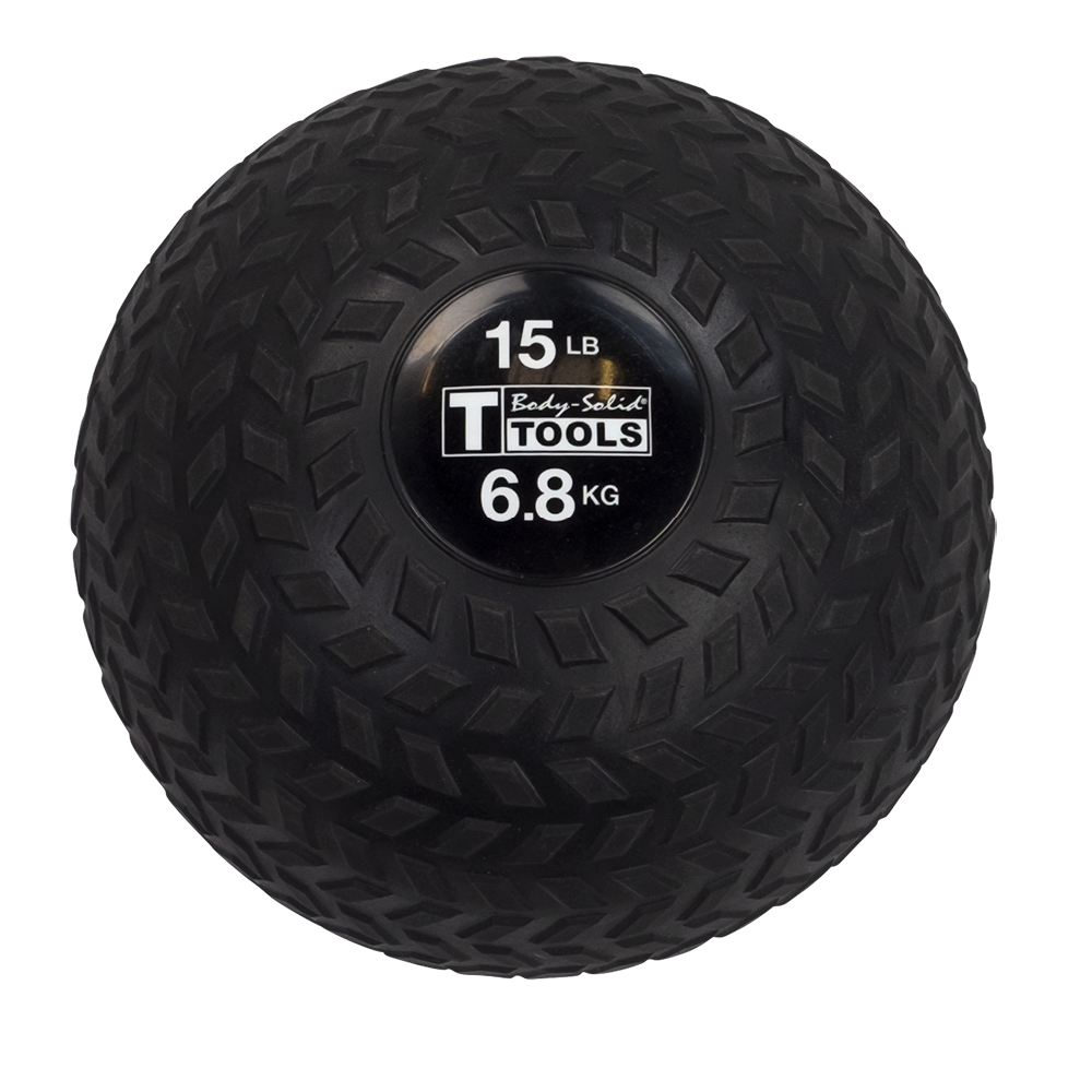 Body Solid Tools BSTTT15 Premium Tire Tread Slam Ball, 15lb