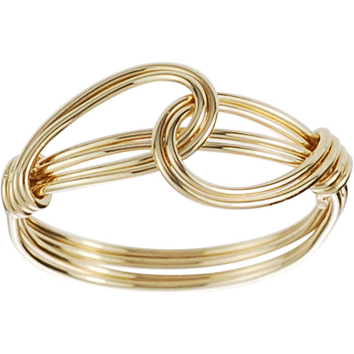 Brinley Co. Women's Gold Sterling Silver Overlapping Knot Ring