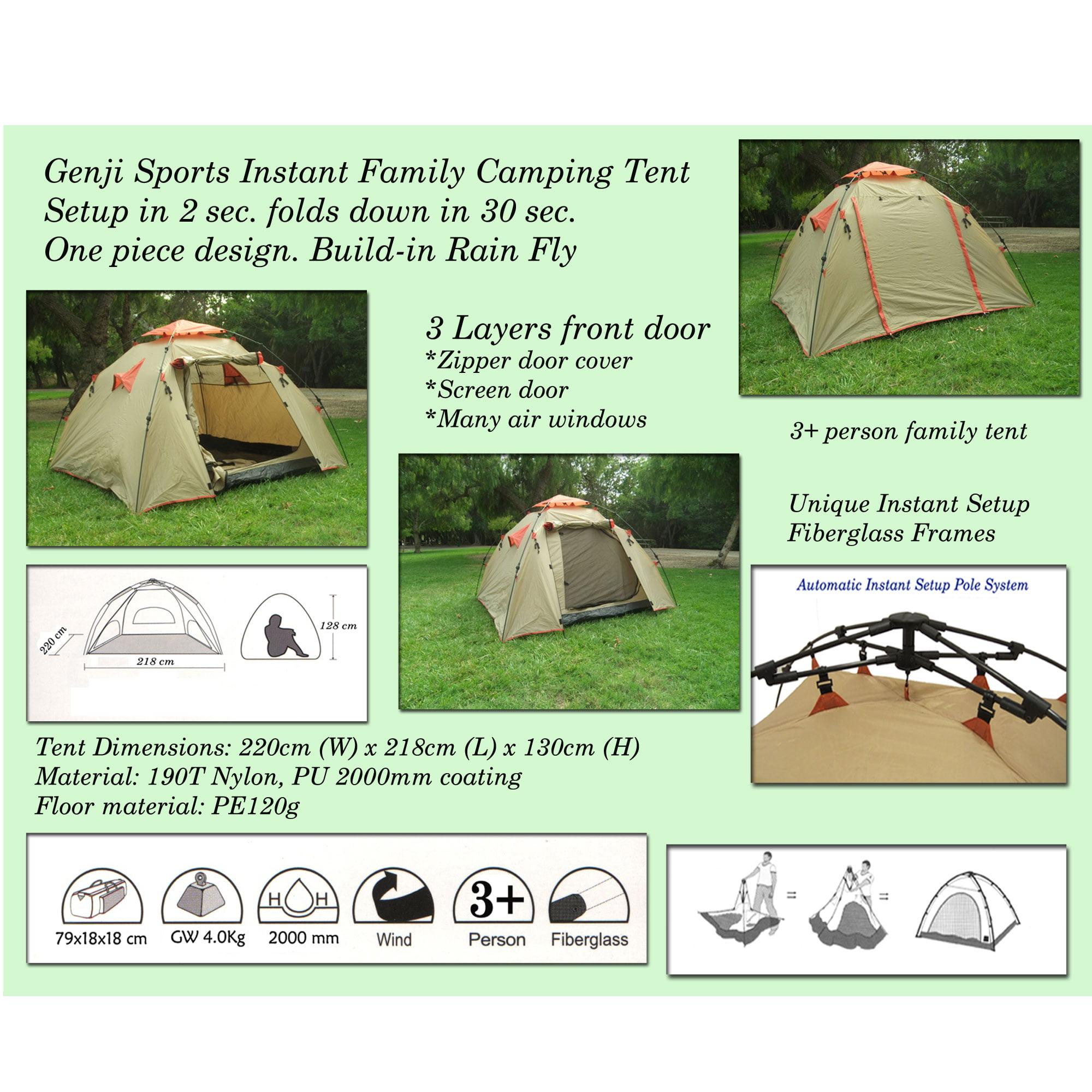 sc 1 st  Walmart & Genji Sports Instant Family Camping Tent 3P - Walmart.com