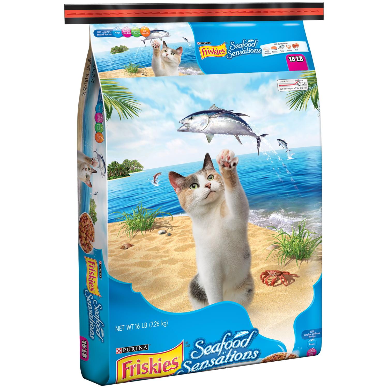 Purina Friskies Seafood Sensations Cat Food 16 lb. Bag