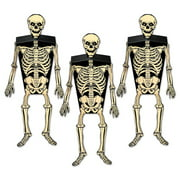 """Club Pack of 36 Scary Halloween Skeleton Favor Boxes 6.25"""""""