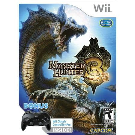 Monster Hunter Tri   Classic Controller Pro Bundle   Nintendo Wii
