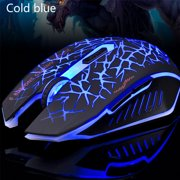 Freedo 2. 4GHz Wireless  Noiseless Mouse, Gaming Mouse  Rechargeable For for Laptop and Computer,Colorful LED Lights BLUE - image 3 of 8