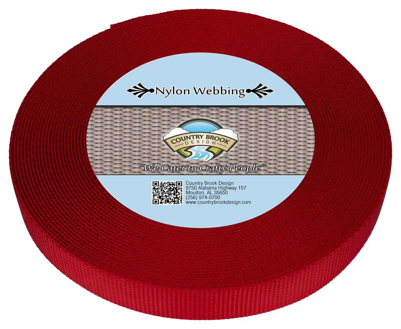 Country Brook Design® 3//8 Inch Christmas Green Heavy Nylon Webbing 10 Yards