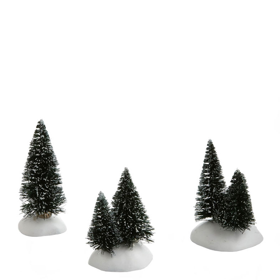 FREE SHIPPING Department 56 Holiday Spruce Tops Set of 3