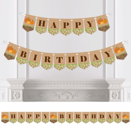 Pumpkin Patch - Fall Birthday Party Bunting Banner - Pumpkin Party Decorations - Happy - Birthday Pumpkin