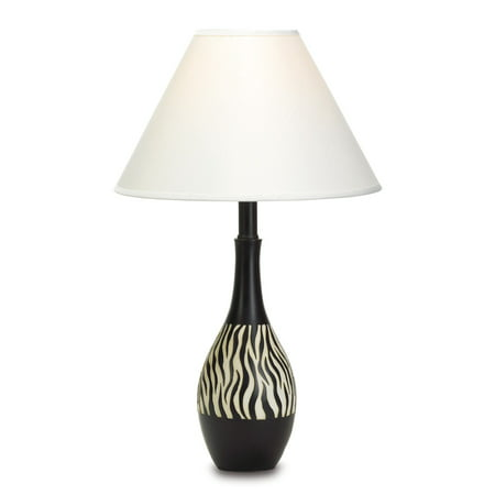 Table lamp vintage black desk lamp antique zebra stripe - Black table lamps for living room ...