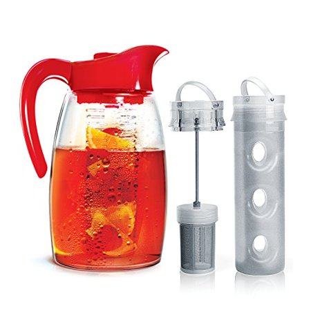 Primula Flavor-It Infusion Pitcher 3-in-1 Beverage System 2.9 quart Cherry