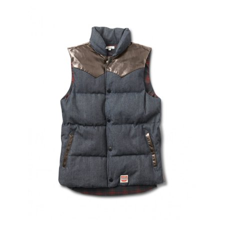 Diamond Supply Co. Mens Packer Puffer Vest (Navy, X-Large)