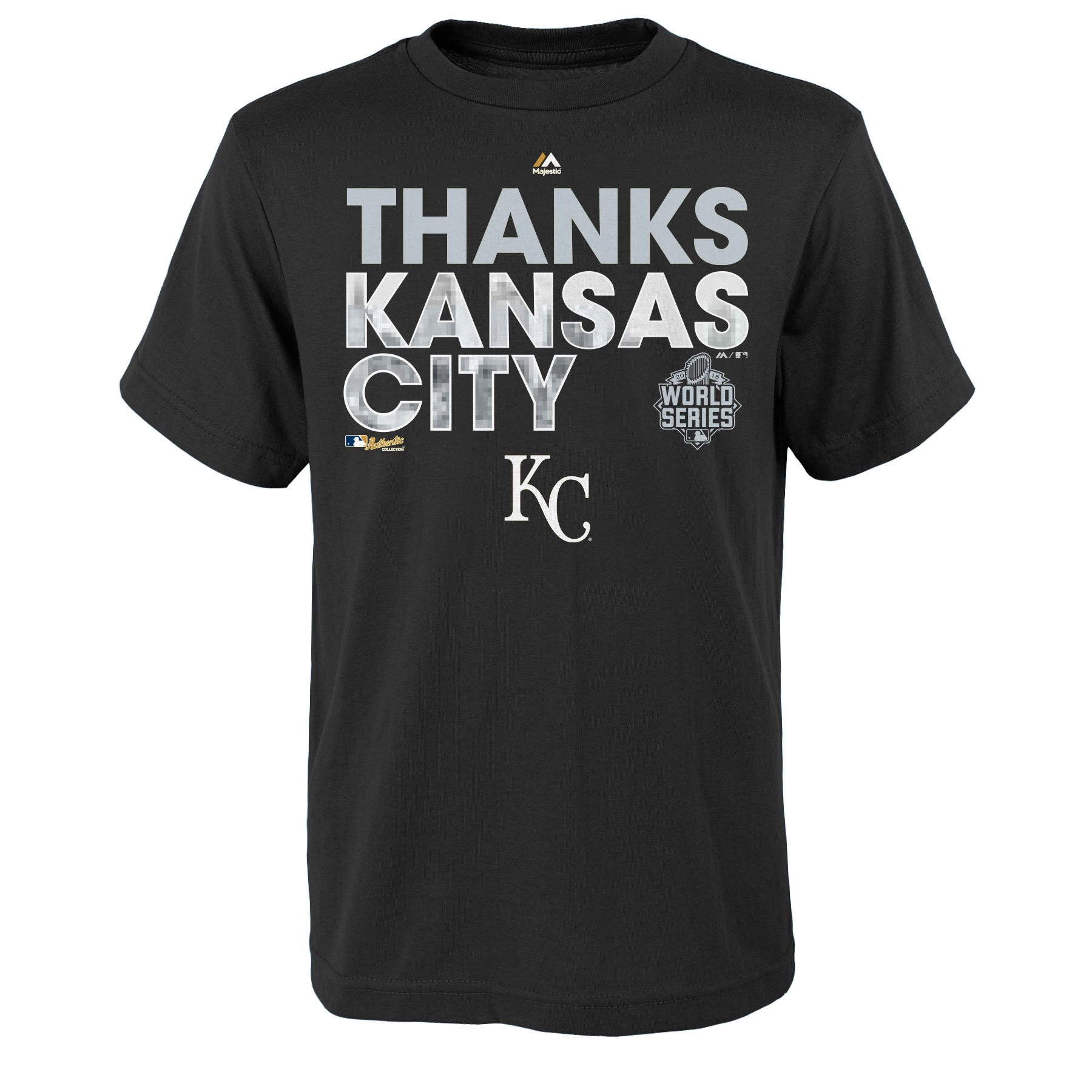 Kansas City Royals Majestic Youth 2015 World Series Champions City Parade T-Shirt - Royal - Yth S
